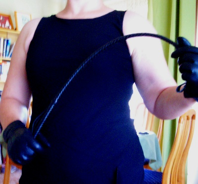 My lovely English leather riding crop. Yes it stings!
